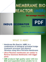 Indus Membrane Bio Reactor Presentation