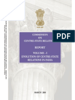 Centre State Relations - Volume 1