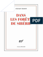 Dans Les Forets de Siberie - Sylvain Tesson