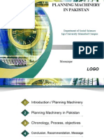 Planning machinery in pakistan