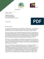 Letter to EU Parliament 1