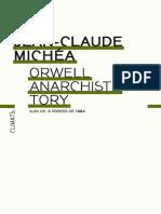 Orwell Anarchiste Tory - Jean-Claude Michéa
