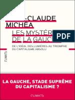 Les Mystères de la Gauche - Jean-Claude Michéa