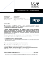 Computer Use Policy and Procedures