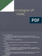Terminologies of HVAC