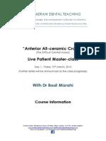 Anterior all-ceramic crown masterclass - Course Info.pdf