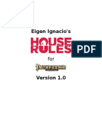 Eigen's House Rules for Pathfinder