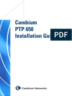 Cambium PTP 650 Series 01-11 Installation Guide