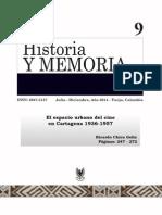 ElespaciorubanodelcineenCartagena1936-1957El espacio urbano del cine en Cartagena 1936-1957