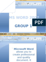 Msword and Msppt