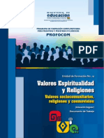 U.F. N° 14 - PROFOCOM - VALORES, ESPIRITUALIDADES Y RELIGIONES