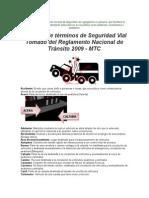 Glosario de Términos de Seguridad Vial