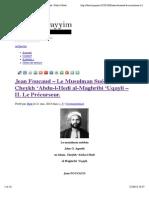 Jean Foucaud – Le Musulman Suédois, Cheykh 'Abdu-l-Hedi al-Maghribi 'Uqayli – II. Le Précurseur. | Dinul Qayyim