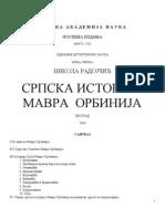 Nikola Radojcic Srpska Istorija Mavra Orbinija