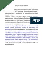 Discurso de Vamos, Granada en el pleno de constitución del Ayuntamiento de Granada