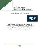 As Autorreflexões de Uma Professora de Ciências Ao Adotar a Metodologia de Ensino Por Investigação e o Modelo Didático de Formulação de Perguntas-implicações Para o Desenvolvimento Profissional Docente 2014 UEL ROTH_Diss