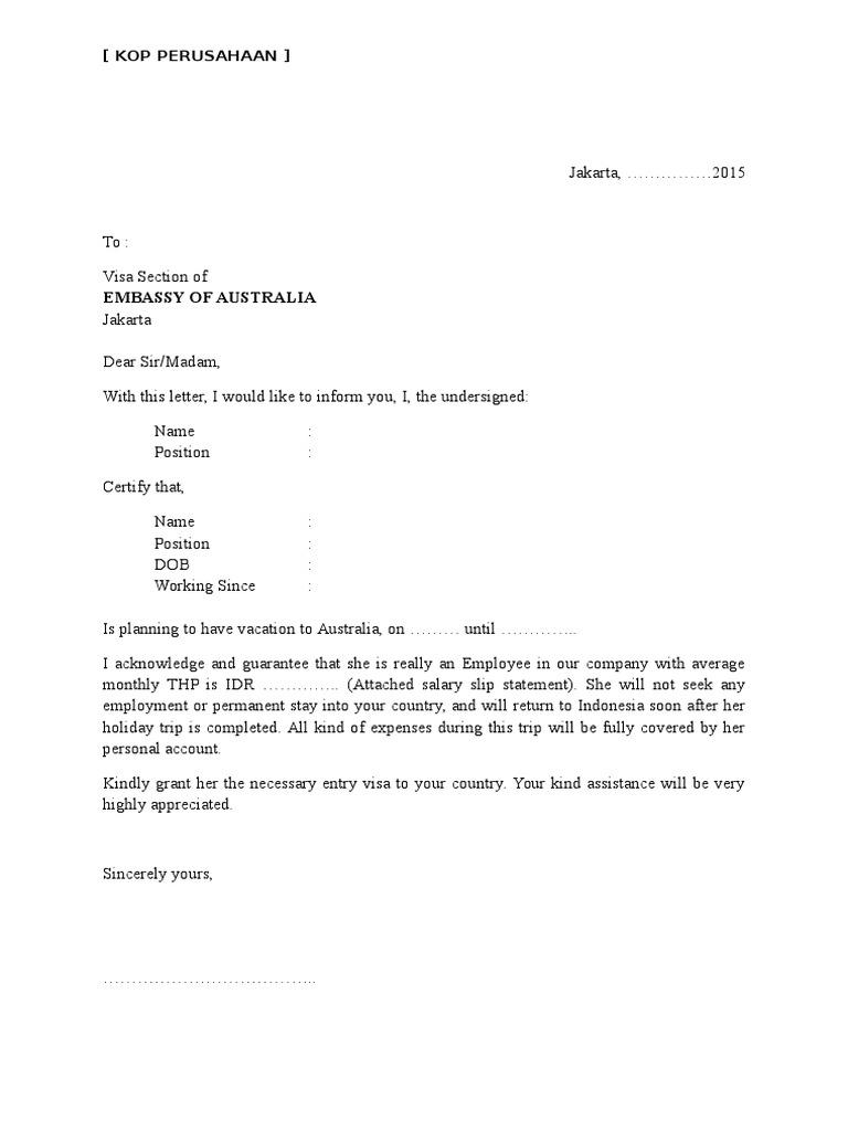 Contoh Surat Keterangan Kerja Visa Korea Kumpulan Ilmu Dan