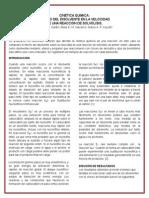 Introducción, resumen y discusión de resultados de la practica de Cinética Química.