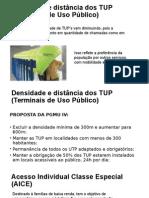 Densidade e Distância Dos TUP (Terminais De