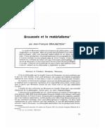 Broussais Et Le Materialisme