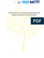 Plan de Aplicacion para el instrumento de diagnostico