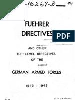 Fuhrer Directives