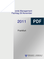 [DE] Tagungsband Records Management | Dr. Ulrich Kampffmeyer | Records Management  Fachtag 29.November 2011