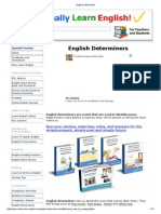 English Determiners