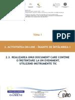 T1_2.3. Realizarea Unui Document Care Conține o Înștiințare