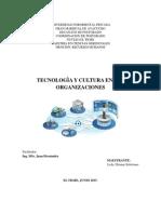 Tecnología y Cultura en Las Organizaciones