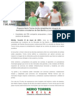 12-05-2015 Propone Nerio Torres Arcila rehabilitación integral de mercados a locatarios de San Benito y Lucas de Gálvez