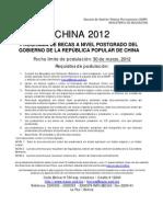 Afiche China - 2012