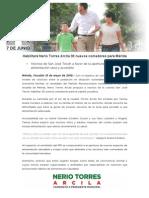 13-05-2015 Habilitará Nerio Torres Arcila 30 nuevos comedores para Mérida