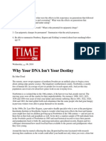 Epigenetics article from Time magazine