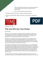 Epigenetics article from Time magazine