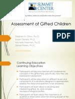 Assessment of Gifted Children