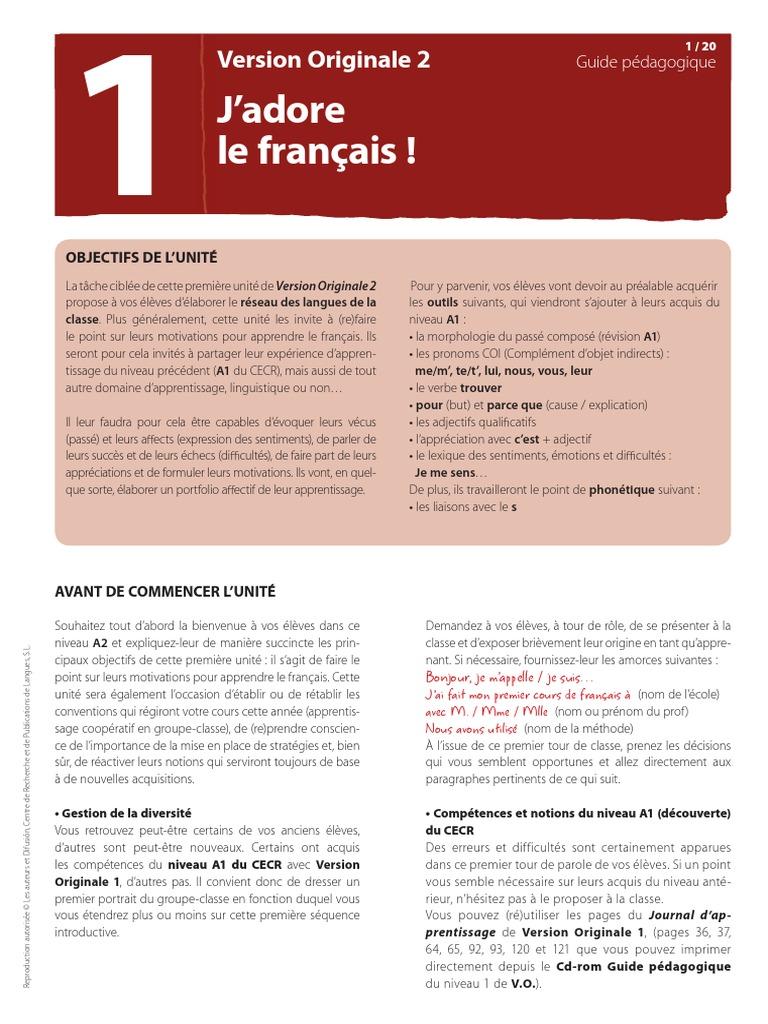 version originale 1 pdf free download