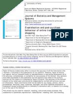 E-satisfaction and Post-purchase Behavio