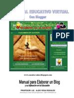 Manual  Blogger Aplicacion Educacion