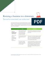 Deloitte - Resizing in a Downturn