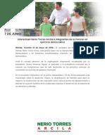 21-05-2015 Interactúan Nerio Torres Arcila e Integrantes de La Canirac en Ejercicio Democrático