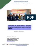 MANCOMUNIDAD REGIONAL DE LOS ANDES, I Encuentro del Consejo de la Juventud-MRDLA.pdf