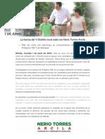 01-06-2015 La Fuerza Del v Distrito Local Está Con Nerio Torres Arcila