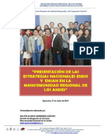 Mancomunidad Regional de los Andes, Lanzamiento ENDIS y ENSAN