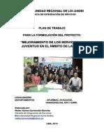 Mancomunidad Regional de los Andes, Plan de Trabajo PIP Juventudes-mrdla