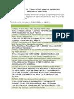 Resumen Congreso Nacional de Ingenieria Sanitaria y Ambiental