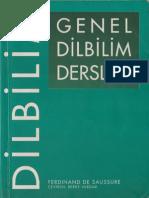 Ferdinand d. Saussure- Genel Dilbilim Dersleri