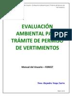 Manual Usuario Evaluación Ambiental Para Trámite de Permiso de Vertimientos v.2