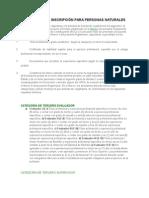 Requisitos de Inscripciu00d3n Para Personas Naturales