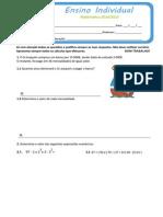 Teste Matemática 3